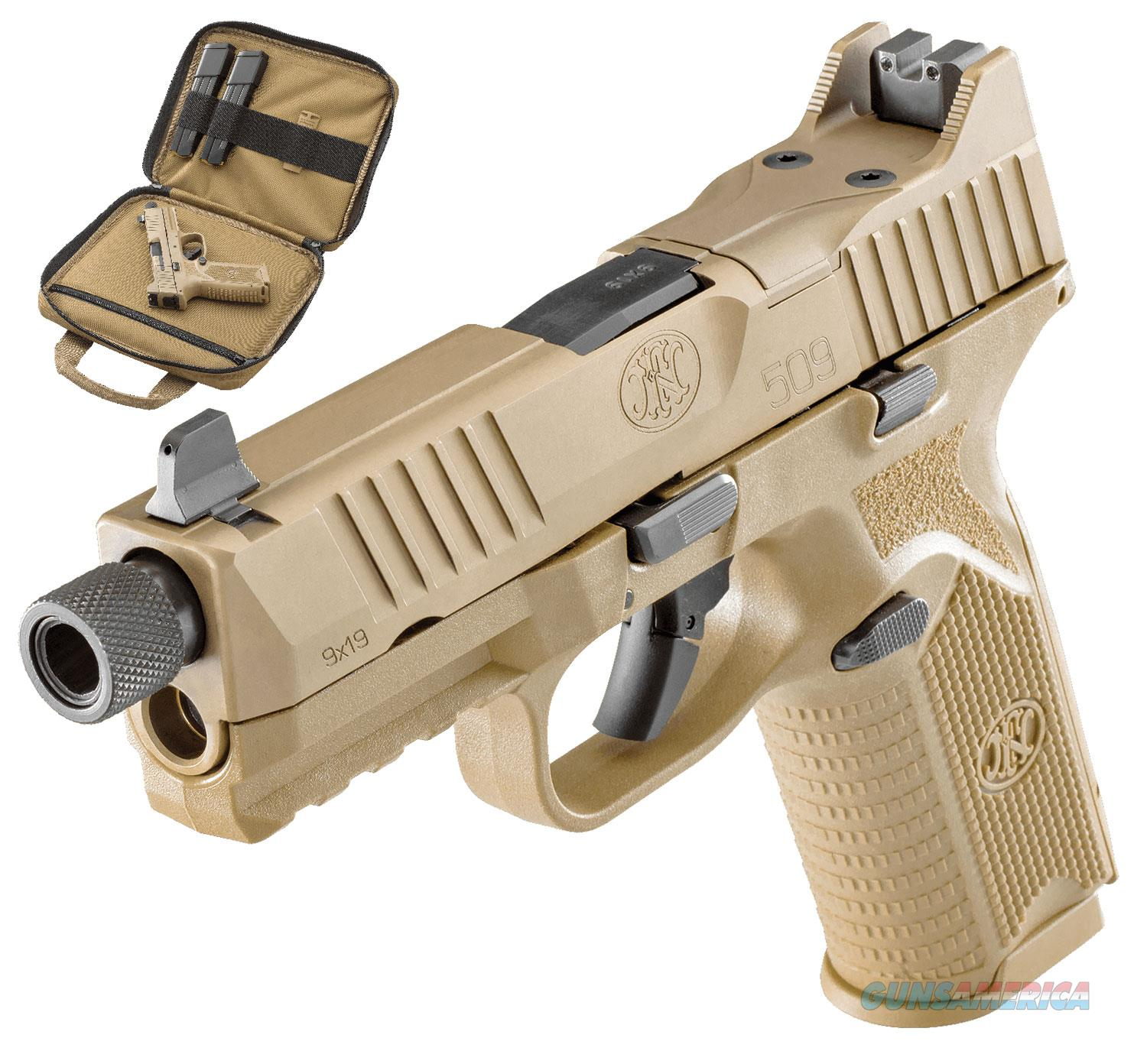 "FN 509 Tactical 9 MM 4.5"" BBL FDE 66-100373 NIB  Guns > Pistols > FNH - Fabrique Nationale (FN) Pistols > FN 509"