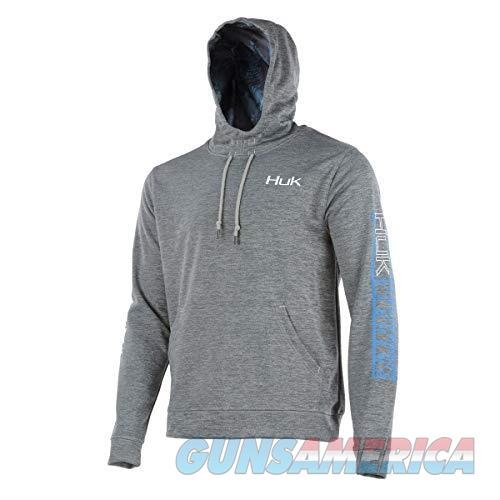 Huk Cold Front Hull Hoodie Grey LG NEW  Non-Guns > Hunting Clothing and Equipment > Clothing > Shirts