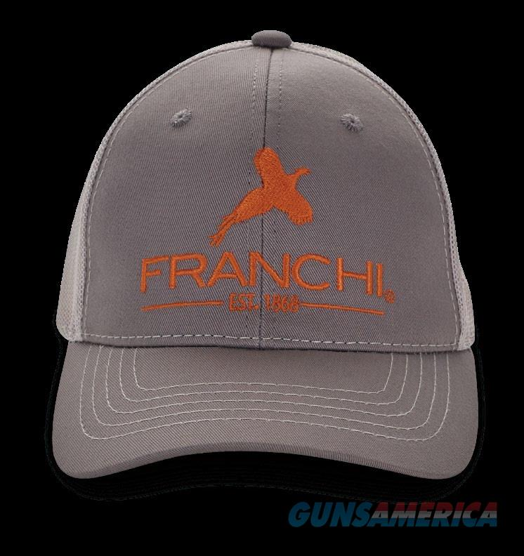 Franchi Logo Trucker Hat Grey Orange Logo  Non-Guns > Hunting Clothing and Equipment > Clothing > Hats