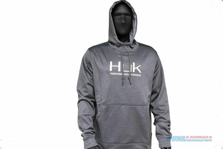 Huk Fleece Hull Hoodie Iron Large NEW  Non-Guns > Hunting Clothing and Equipment > Clothing > Shirts