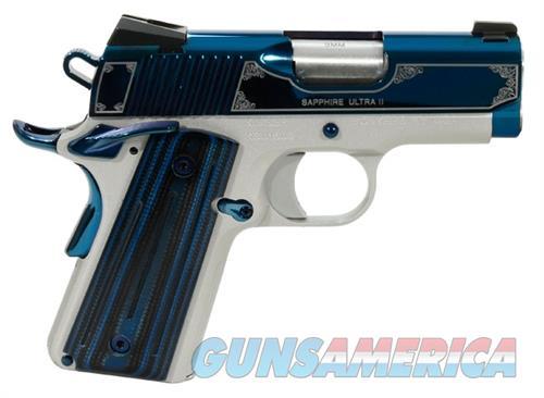 """Kimber Sapphire Ultra II 9 MM 3"""" NIB 3200273 9MM  Guns > Pistols > Kimber of America Pistols > 1911"""