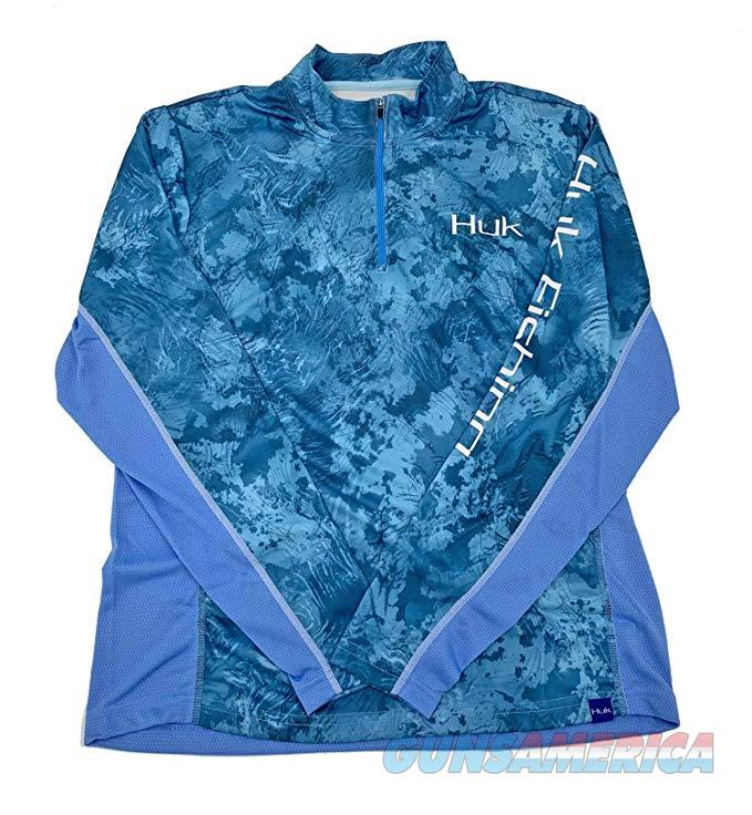 Huk Icon 1/4 Zip Shirt Flow Medium NEW  Non-Guns > Hunting Clothing and Equipment > Clothing > Shirts