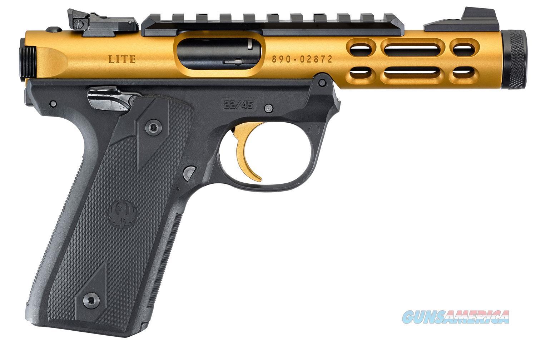 Ruger Mark IV 22/45 Lite 22 LR TB Gold NIB 43926  Guns > Pistols > Ruger Semi-Auto Pistols > Mark I/II/III/IV Family