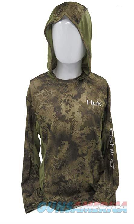 Huk Icon Camo Hoodie Shirt LG  Non-Guns > Hunting Clothing and Equipment > Clothing > Shirts