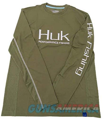 Huk Icon Long Sleeve Olive LG  Non-Guns > Hunting Clothing and Equipment > Clothing > Shirts