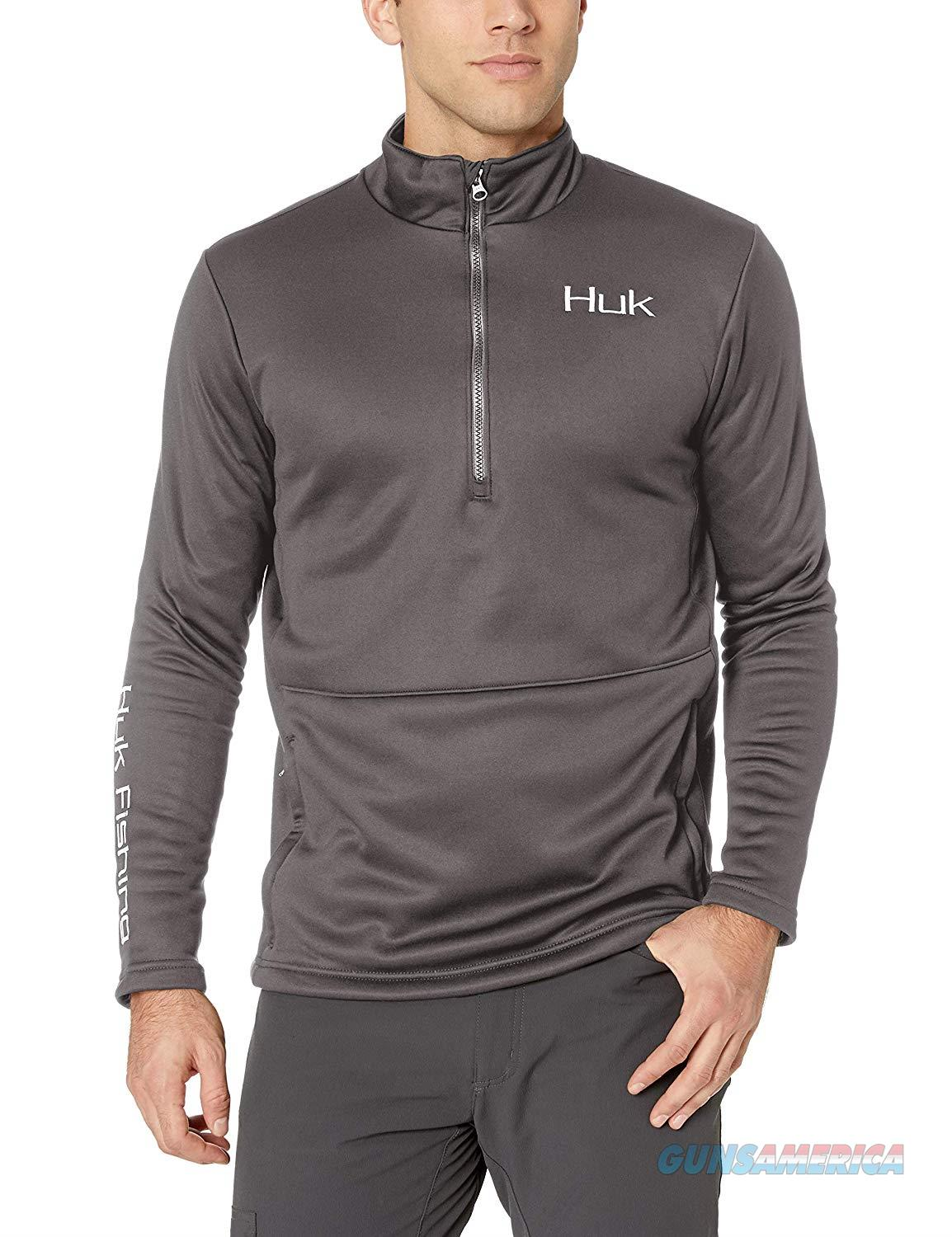 Huk Tidewater 1/4 Zip MD Grey  Non-Guns > Hunting Clothing and Equipment > Clothing > Shirts