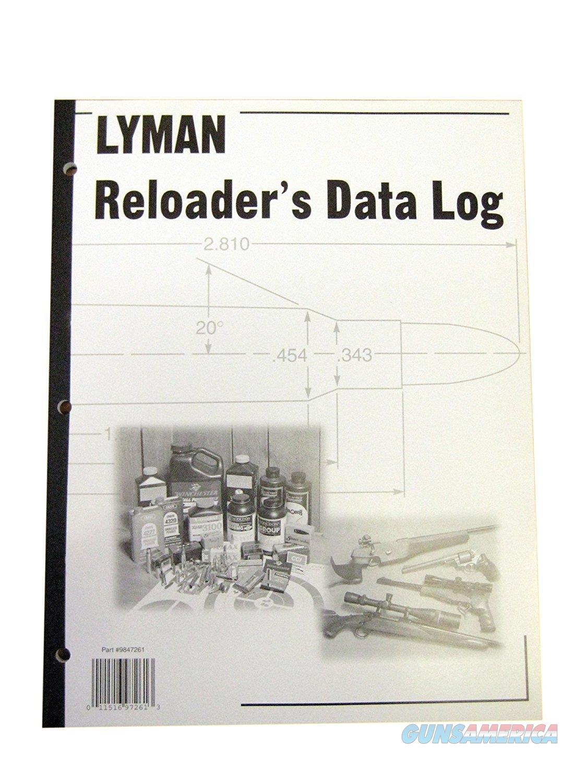 Lyman Reloader's Data Log Book  Non-Guns > Manuals - Print