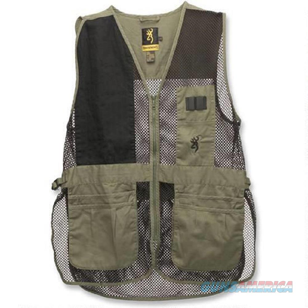Browning Trapper Creek Shooting Vest, Sage/Black, 2XL - 3050265405  Non-Guns > Shotgun Sports > Vests/Jackets