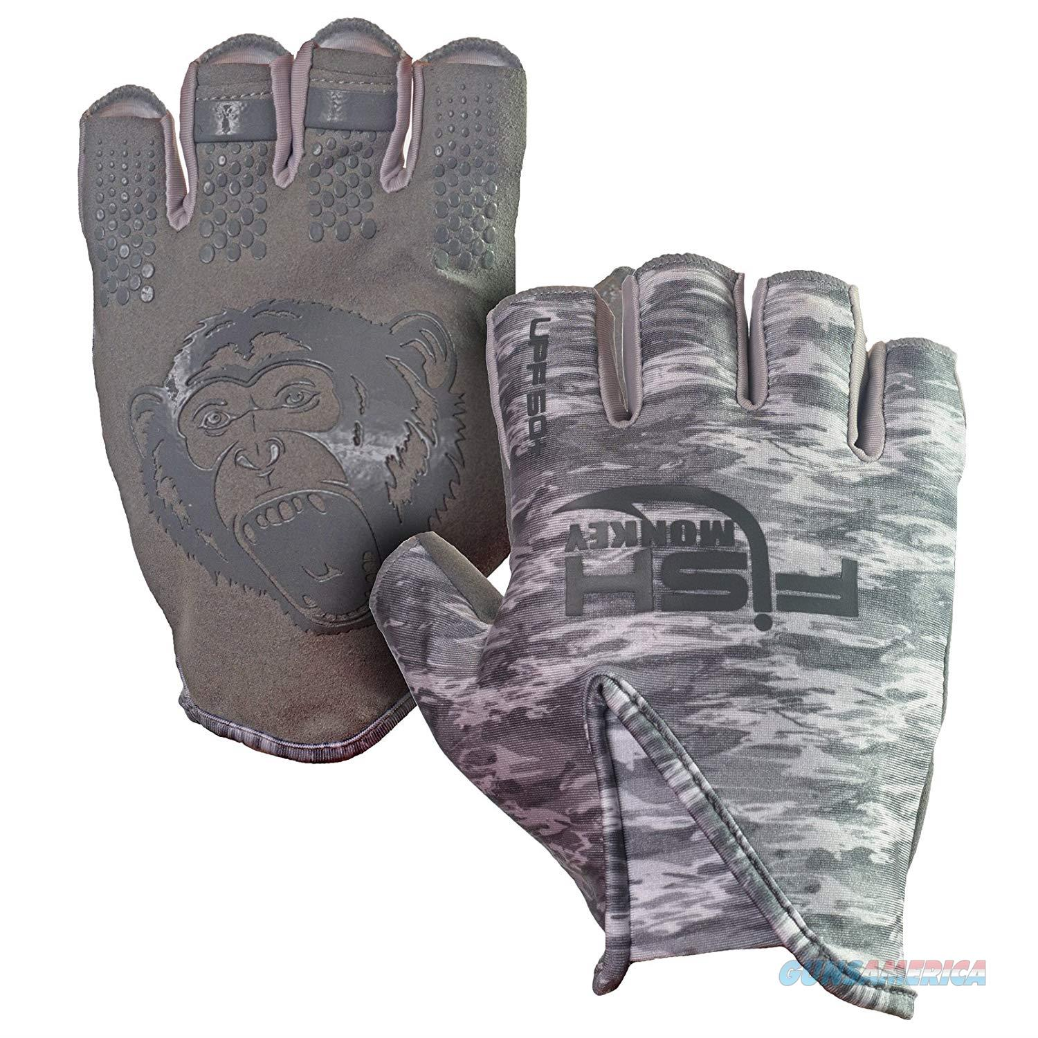 Fish Monkey Stubby Guide Glove Grey XL  Non-Guns > Hunting Clothing and Equipment > Clothing > Gloves