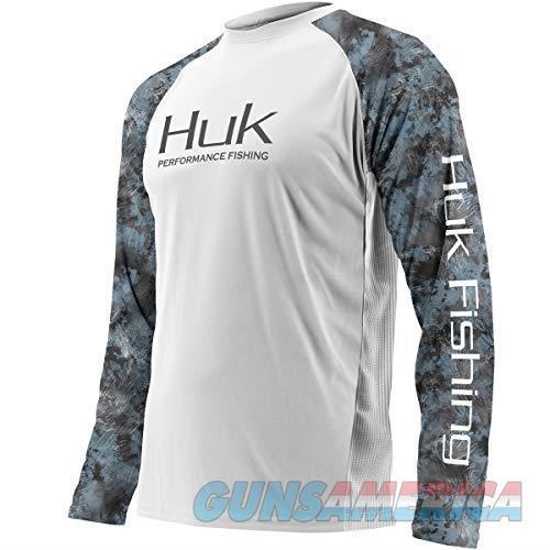 Huk Youth Double Header Shirt White/Glacier YL  Non-Guns > Hunting Clothing and Equipment > Clothing > Shirts