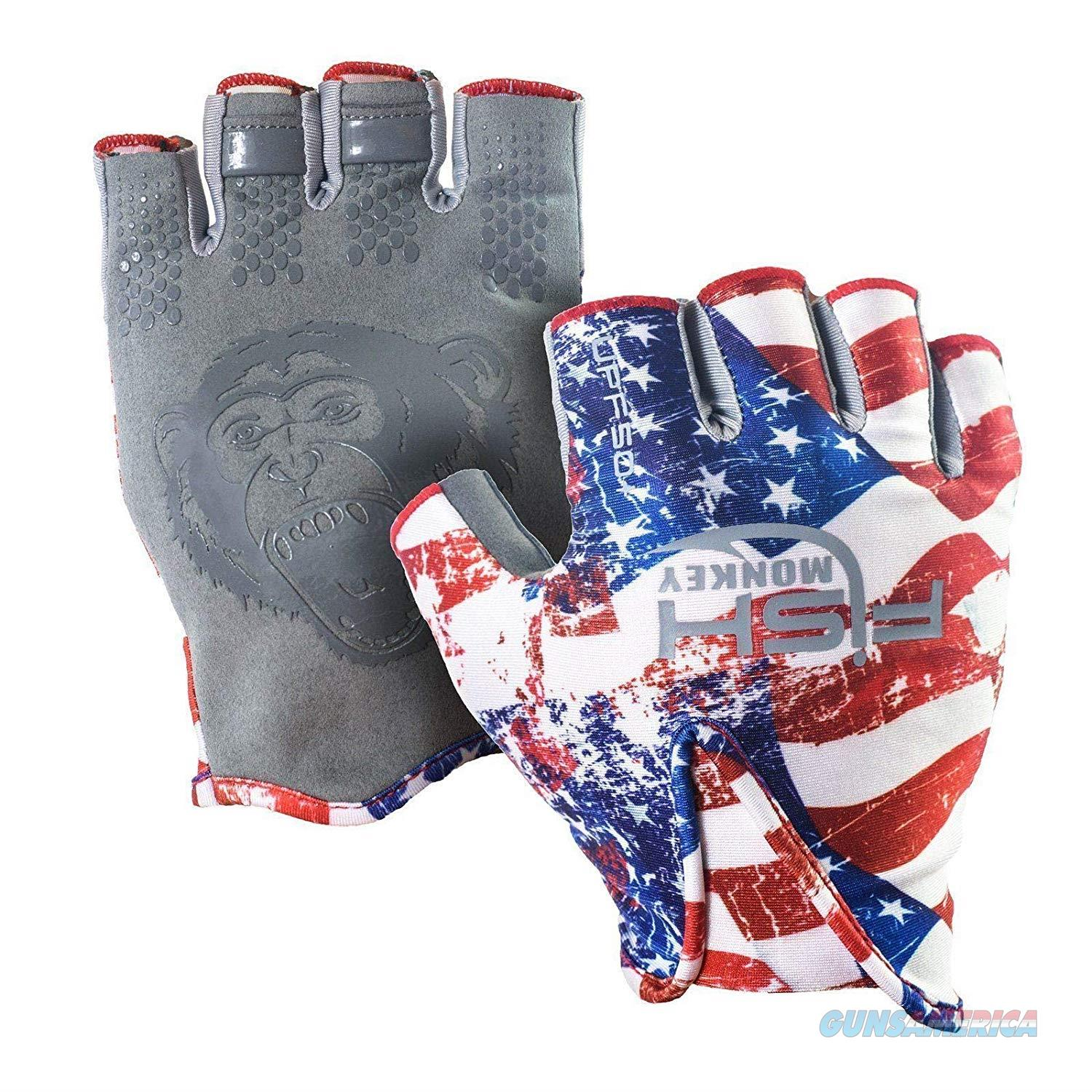 Fish Monkey Stubby Guide Glove Americana XL  Non-Guns > Hunting Clothing and Equipment > Clothing > Gloves