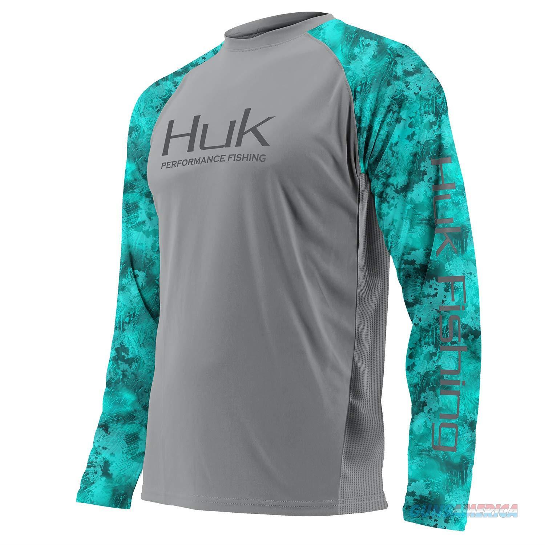 Huk Camo Vented LS LG Grey  Non-Guns > Hunting Clothing and Equipment > Clothing > Shirts