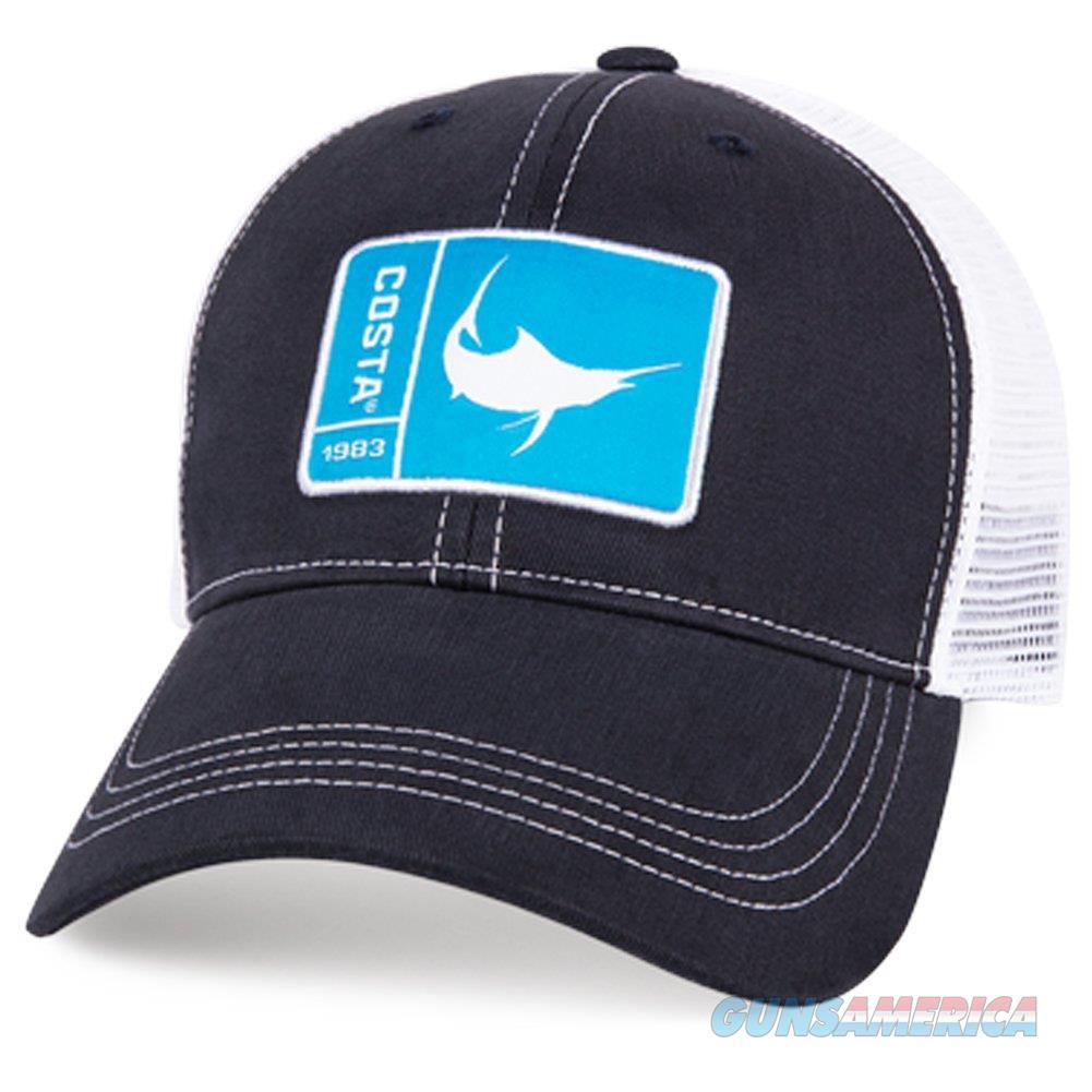 Costa Marlin Patch Trucker Ball Cap Navy NEW  Non-Guns > Hunting Clothing and Equipment > Clothing > Hats