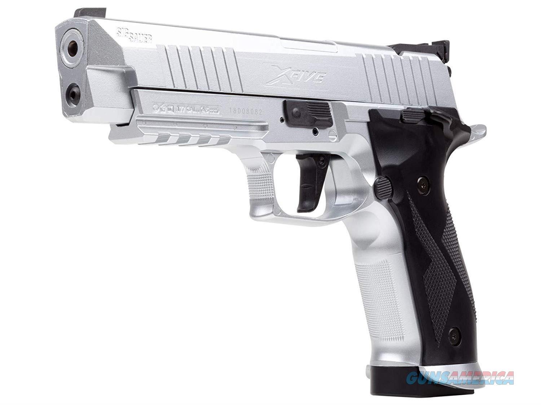 Sig Sauer X Five CO2 Pellet Pistol Silver NEW  Non-Guns > Air Rifles - Pistols > Crossman Type Pump