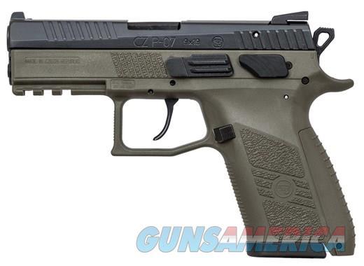 """CZ P-07 OD Green 9 MM 3.75"""" BBL 15+1 NIB 91077 9MM  Guns > Pistols > CZ Pistols"""