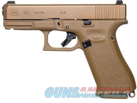 """Glock 19X PX1950703 NIB 9 MM 4.02""""BBL FDE 9MM 19 X  Guns > Pistols > Glock Pistols > 19/19X"""