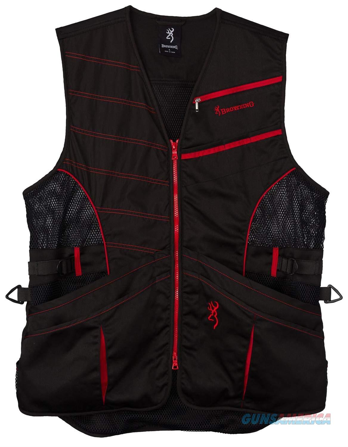 Browning Ace Shooting Vest Black Red XL  Non-Guns > Shotgun Sports > Vests/Jackets