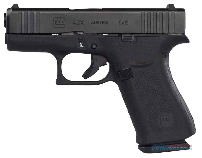 """Glock 43X 9 MM 3.41"""" BBL PX4350201 Black NIB 9MM  Guns > Pistols > Glock Pistols > 43/43X"""