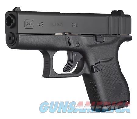 """Glock 43 UI4350201 BLK 9 MM 3.39"""" BBL NIB USA 9MM  Guns > Pistols > Glock Pistols > 43/43X"""