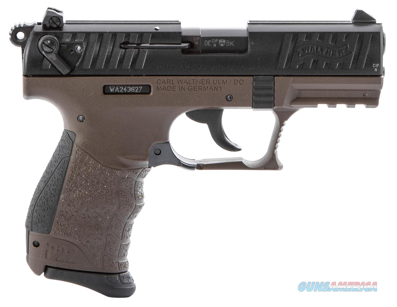 Walther P22Q Miliatry 22 LR OD Green 5120715 NIB  Guns > Pistols > Walther Pistols > Post WWII > P22