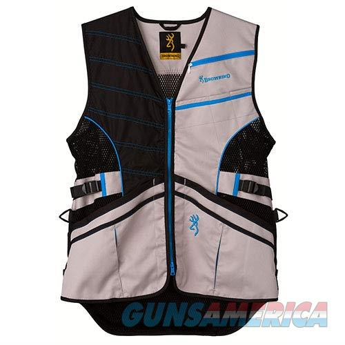 Browning Ace Shooting Vest Black Blue LG  Non-Guns > Shotgun Sports > Vests/Jackets
