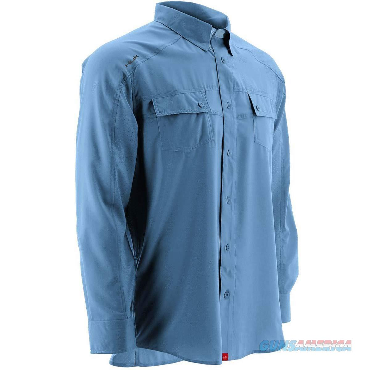 Huk Next Level Button Up Blue Medium  Non-Guns > Hunting Clothing and Equipment > Clothing > Shirts