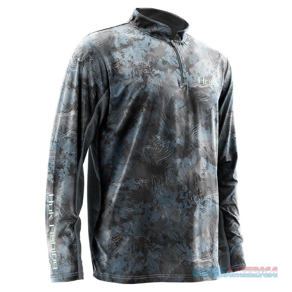 Huk Icon 1/4 Zip Shirt SubPhantis Glacier LG  Non-Guns > Hunting Clothing and Equipment > Clothing > Shirts