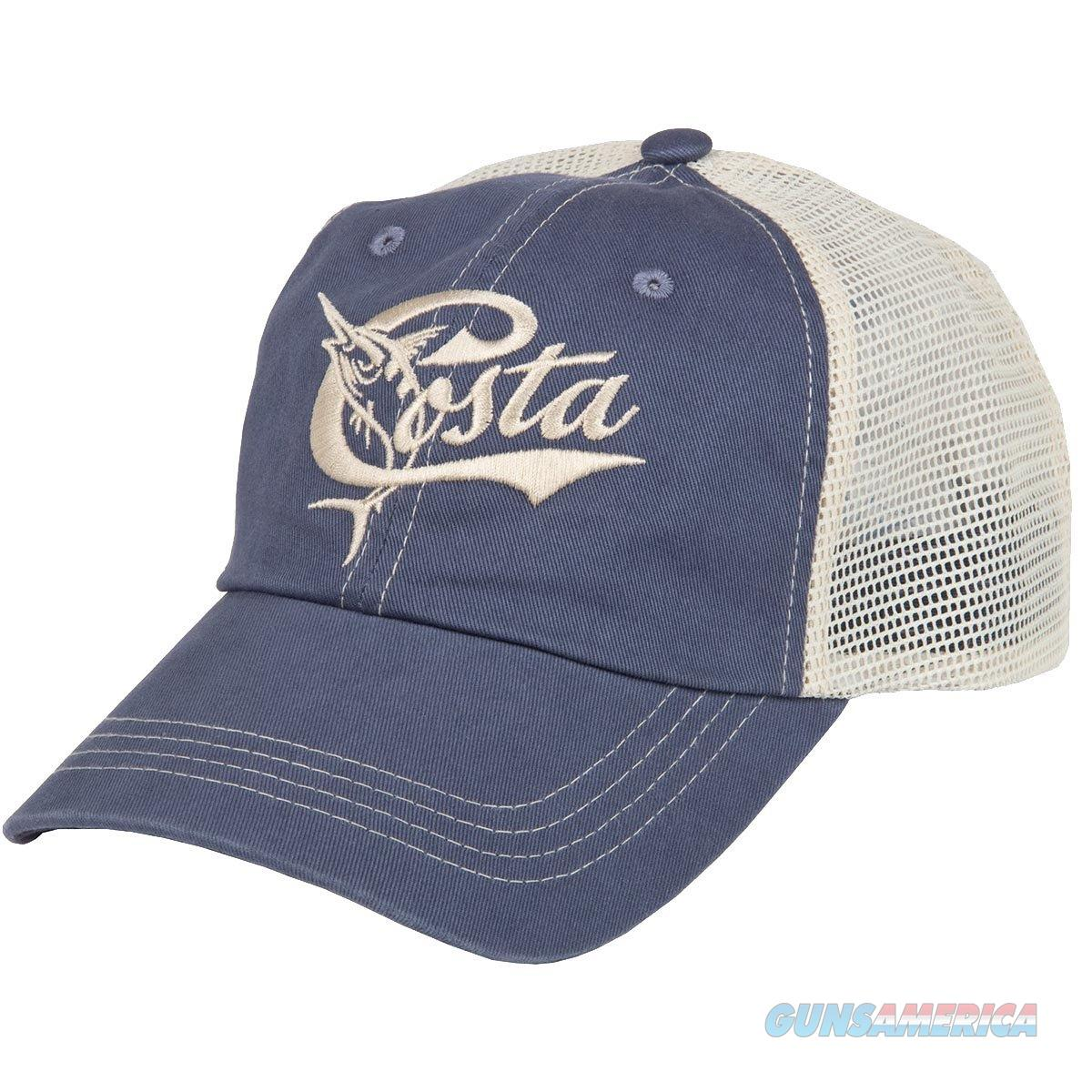 Costa Retro Trucker Ball Cap Slate Blue  Non-Guns > Hunting Clothing and Equipment > Clothing > Hats