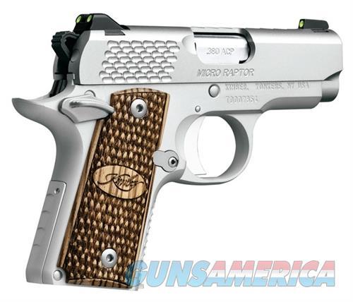 Kimber Micro Raptor Stainless NIB 3300084 380 Acp  Guns > Pistols > Kimber of America Pistols > Micro