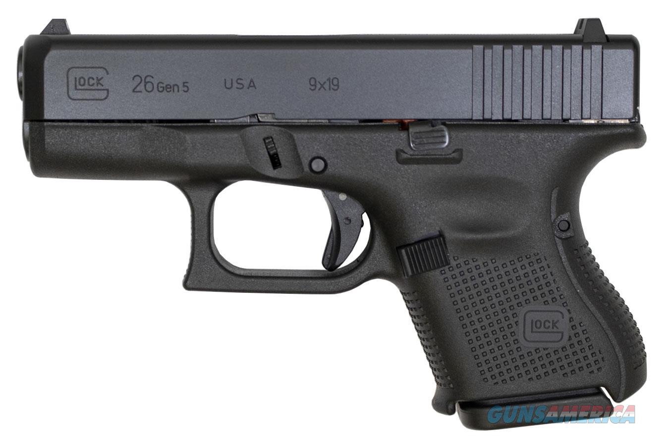 """Glock 26 Gen5 UA2650201 NIB 9 MM 3.43""""BBL 10+1 BLK  Guns > Pistols > Glock Pistols > 26/27"""