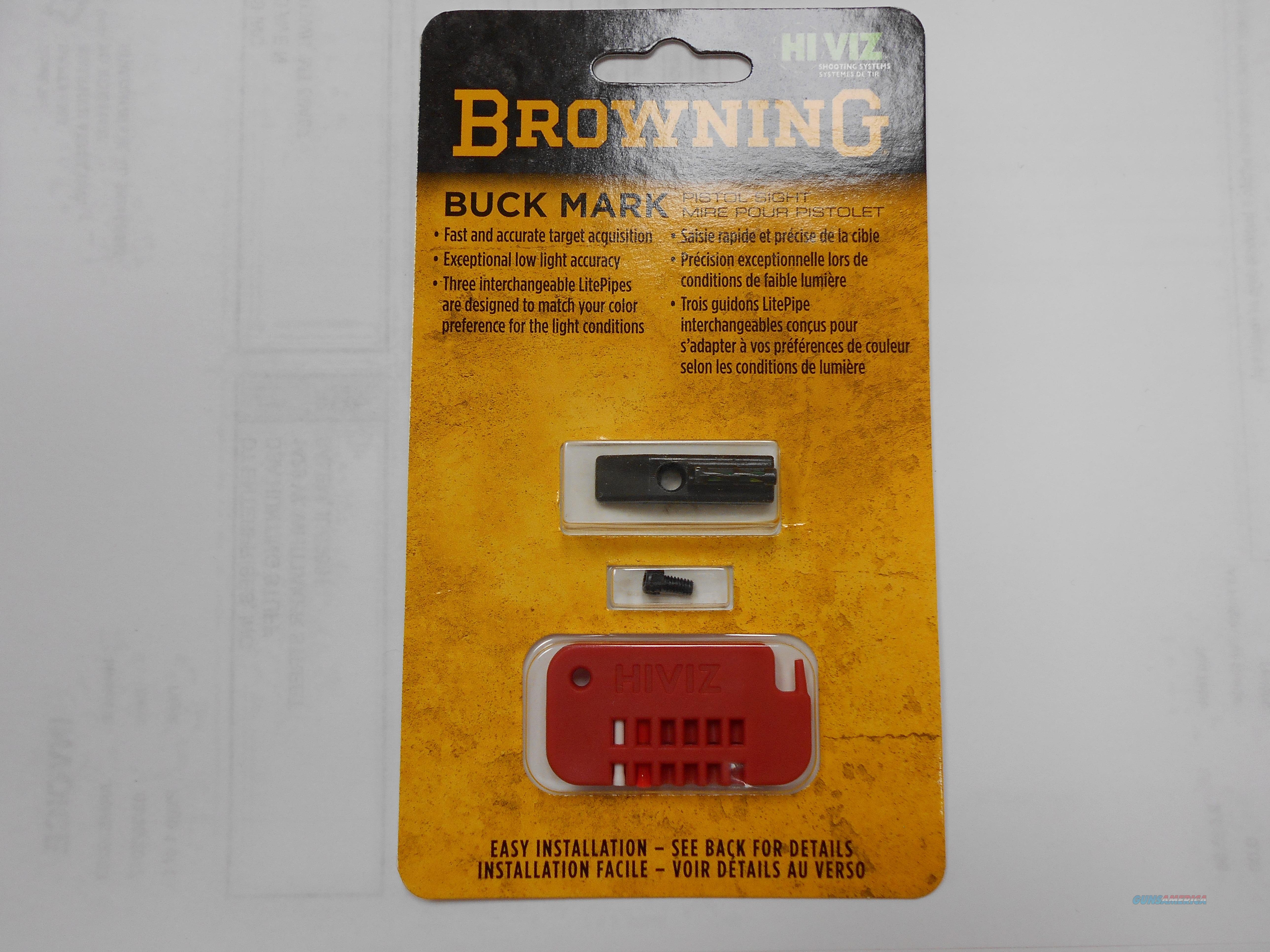 Browning Buck Mark Front Pistol Sight, Green - 12875  Non-Guns > Iron/Metal/Peep Sights