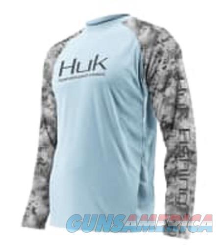Huk Double Header Shirt Blue XL  Non-Guns > Hunting Clothing and Equipment > Clothing > Shirts