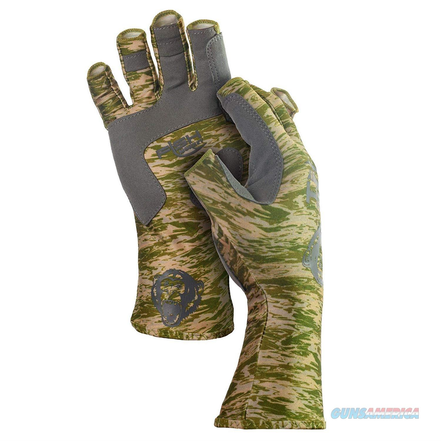 Fish Monkey Half Finger Guide Glove Green LG  Non-Guns > Hunting Clothing and Equipment > Clothing > Gloves
