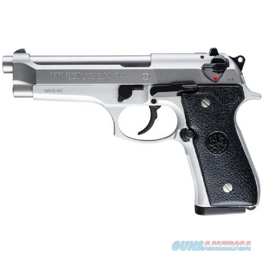 "Beretta 92FS 9mm 4.9"" Brl 15 Rd Stainless Steel  Guns > Pistols > Beretta Pistols > Model 92 Series"