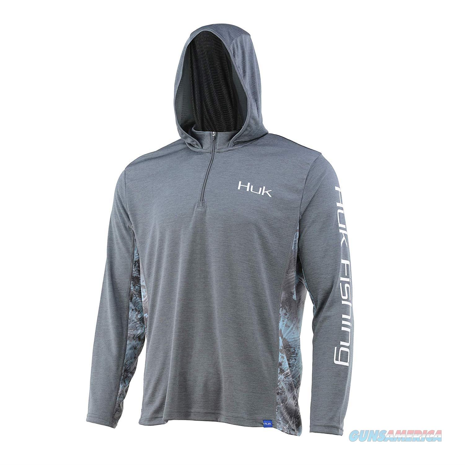 Huk Cold Weather Icon Hoodie Grey LG  Non-Guns > Hunting Clothing and Equipment > Clothing > Shirts