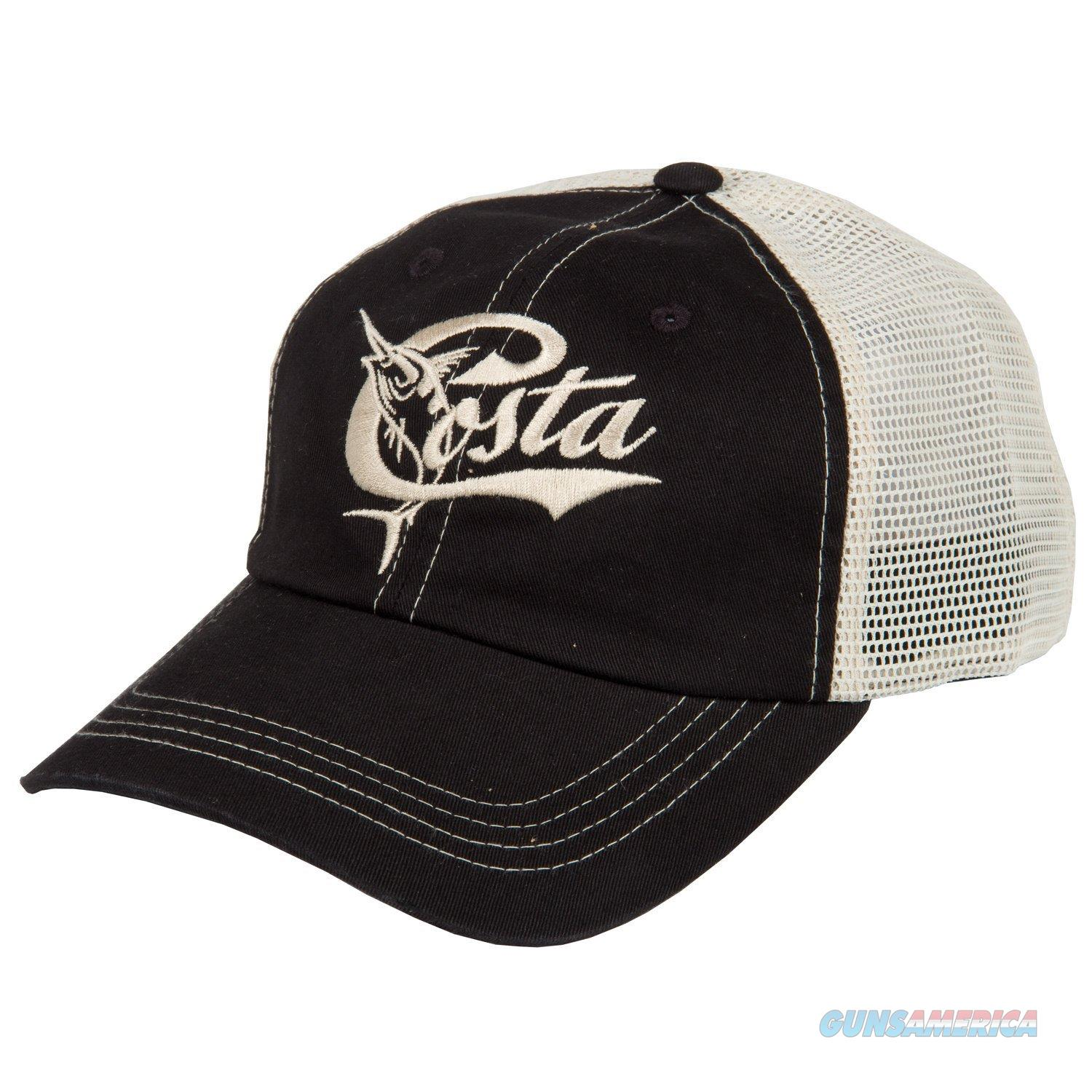 Costa Retro Trucker Ball Cap Black  Non-Guns > Hunting Clothing and Equipment > Clothing > Hats