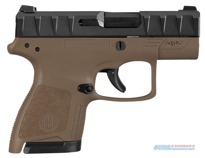 "Beretta APX Carry 9 MM 3.07""BBL FDE JAXN92005 NIB  Guns > Pistols > Beretta Pistols > Polymer Frame"