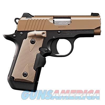 Kimber Micro 380 Acp Desert Tan LG 3300209 NIB  Guns > Pistols > Kimber of America Pistols > Micro 9