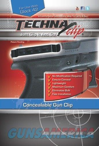 Techna Clip Glock 42 Ambidextrous Gun Clip G42BRL  Non-Guns > Holsters and Gunleather > Concealed Carry
