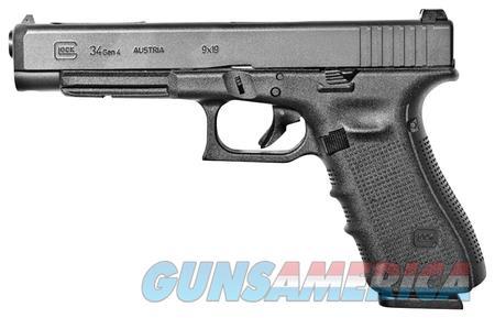 """Glock 34 Gen 4 PG3430103 NIB 9 MM 9MM 5.31"""" BBL  Guns > Pistols > Glock Pistols > 34"""