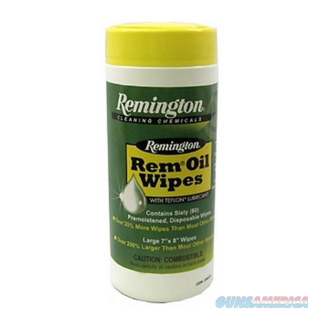 """Remington 60 Count Premoistened Disposable Rem Oil Wipes Large 7""""x8""""  Non-Guns > Miscellaneous"""
