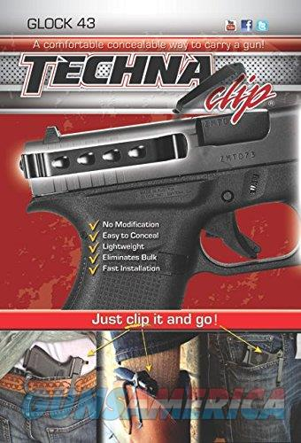 Techna Clip Concealable Gun Clip for Glock 43 Ambi  Non-Guns > Holsters and Gunleather > Concealed Carry