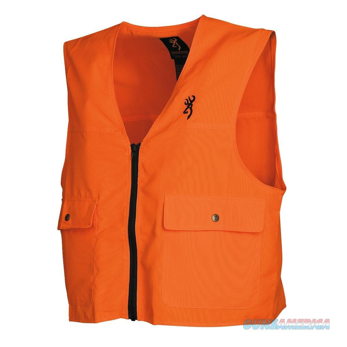 Browning Safety Vest Large Blaze Orange  Non-Guns > Hunting Clothing and Equipment > Clothing > Blaze Orange