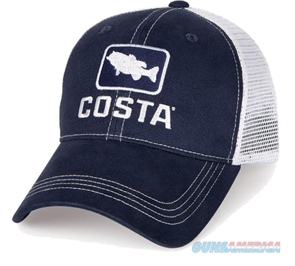 Costa Del Mar Bass Trucker Ball Cap, Navy/White - HA 18N  Non-Guns > Hunting Clothing and Equipment > Clothing > Hats