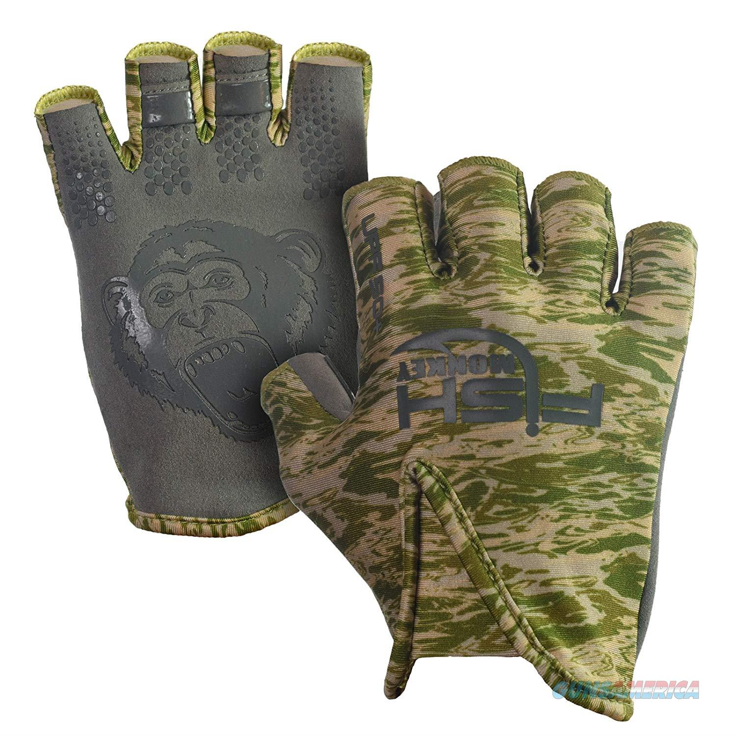 Fish Monkey Stubby Guide Glove Green Small  Non-Guns > Hunting Clothing and Equipment > Clothing > Gloves