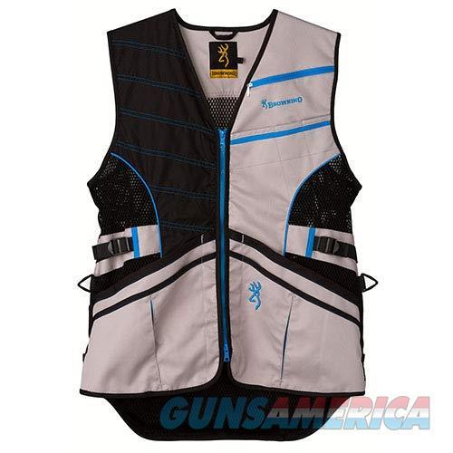 Browning Ace Shooting Vest Black Blue MD  Non-Guns > Shotgun Sports > Vests/Jackets