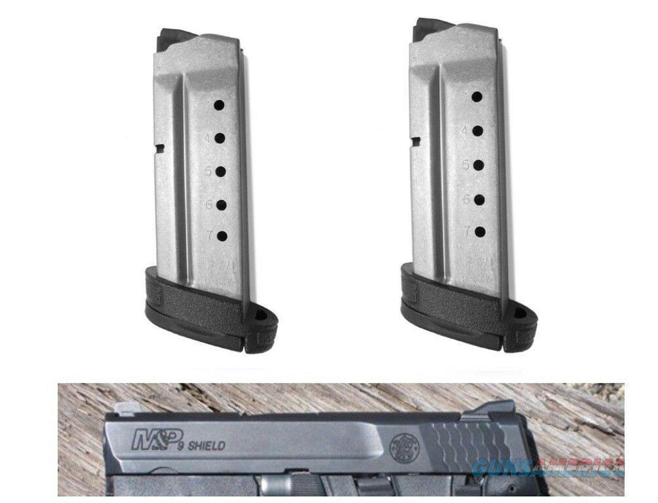 2 Pack M&P Shield 7 Round .40 40 EXTENDED Magazine Mag Magazine Smith & Wesson  Non-Guns > Ammunition