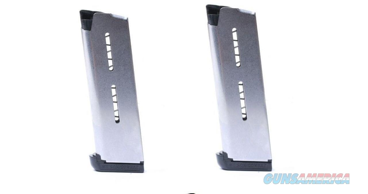 2 Pack Wilson Combat 1911 47OX 47 OFFICERS Magazine Mag 7 Round Stainless Mags  Non-Guns > Ammunition
