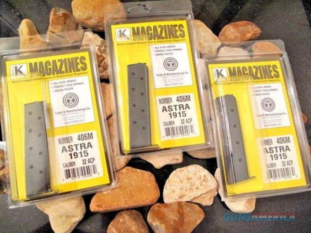 3-pack Fits ASTRA Model 1915 .32 ACP CALIBER 9 ROUND Magazine Mag 32 Mags ACP  Non-Guns > Ammunition
