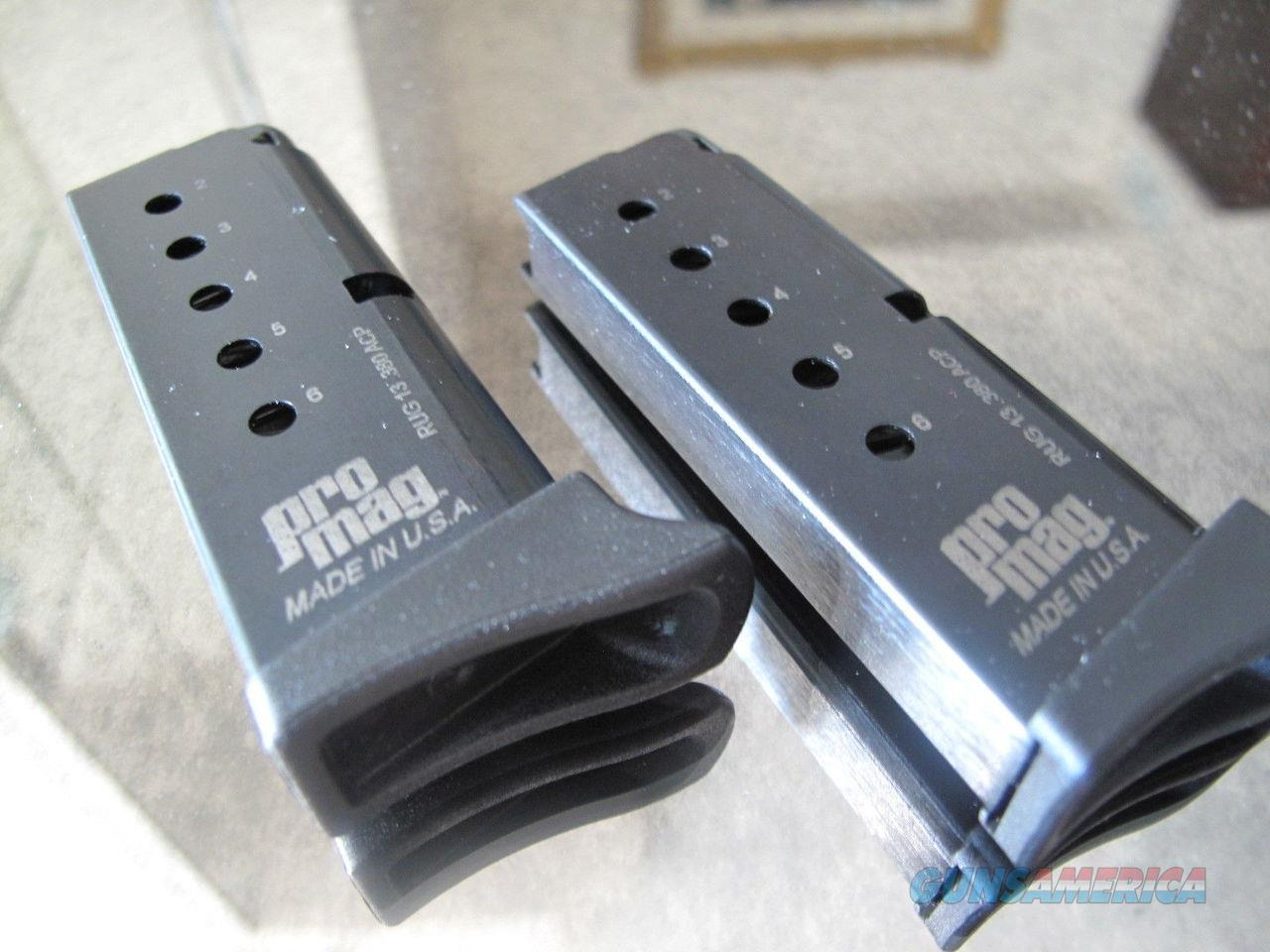 10 Pack Ruger LCP 380 .380 6 Round Magazine by Promag Mag Mags MAGAZINES PNKIE !!  Non-Guns > Ammunition
